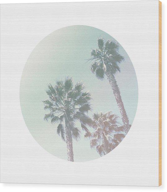 Breezy Palm Trees- Art By Linda Woods Wood Print