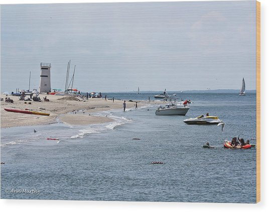 Breezy Point Lighthouse Wood Print
