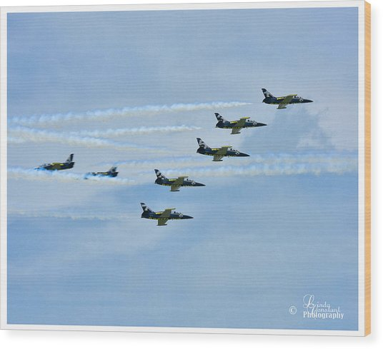Breitling Air Show Wood Print