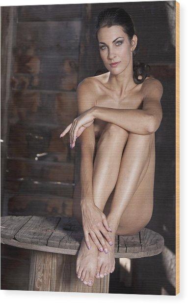 Brenda On Spool Wood Print