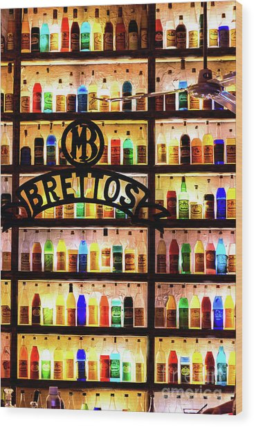 Brettos Bar In Athens, Greece - The Oldest Distillery In Athens Wood Print