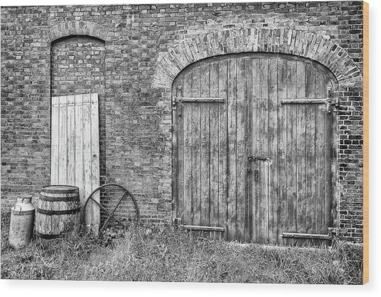 Brewhouse Door Wood Print