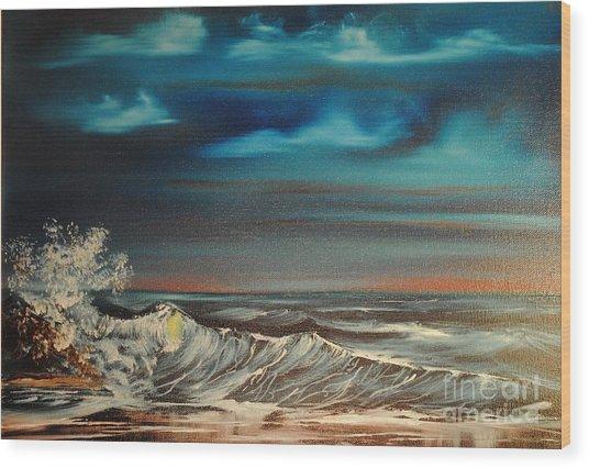 Brewing Storm Wood Print by James Higgins