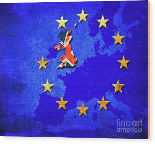 Brexit Wood Print