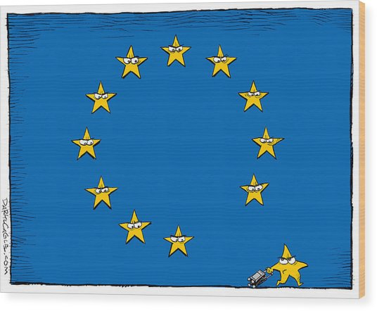 Brexit Eu Flag  Wood Print