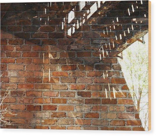 Brick And Rust Wood Print