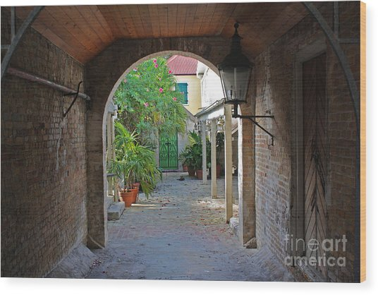 Brick Entryway Wood Print