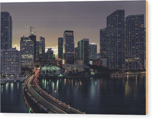 Brickell City Centre Wood Print