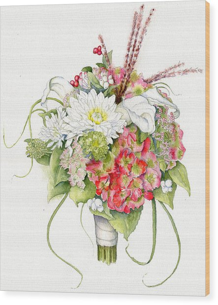 Bridal Bouquet Wood Print