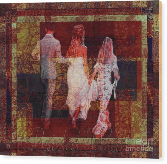 Bridal Walk Wood Print