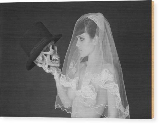 Bride And Groom Wood Print by MAX Potega