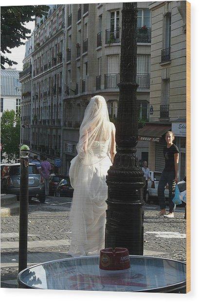 Bride Of Paris Wood Print