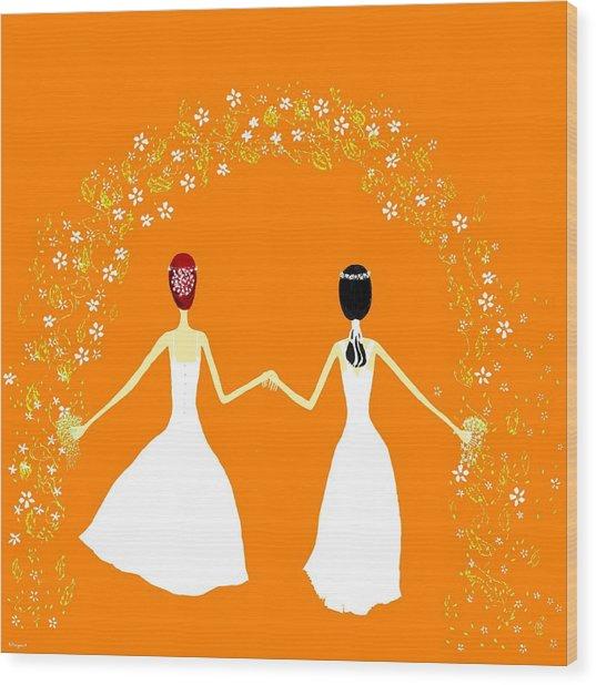 Brides Wood Print