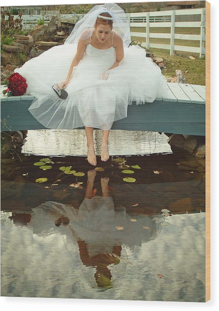 Brides Reflection Wood Print by Ken Gimmi
