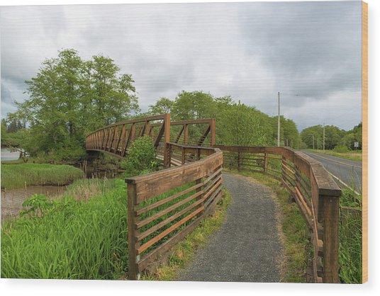 Bridge Along Lewis And Clark Hiking Trail  Wood Print