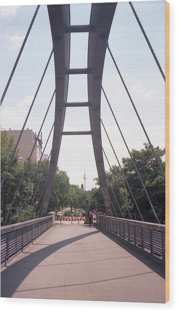 Bridge And Alexanderplatz Tower Wood Print