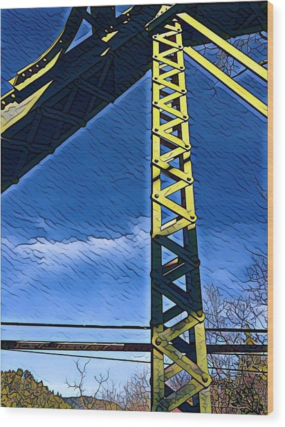 Bridge At Guerneville Wood Print