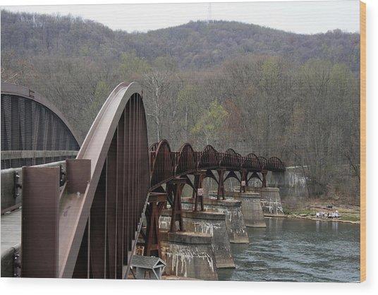 Bridge At Ohiopyle Pennsylvania Wood Print