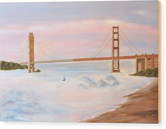 Bridge Wood Print by C H