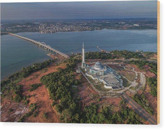 Wood Print featuring the photograph Bridge Connecting Two City by Pradeep Raja PRINTS