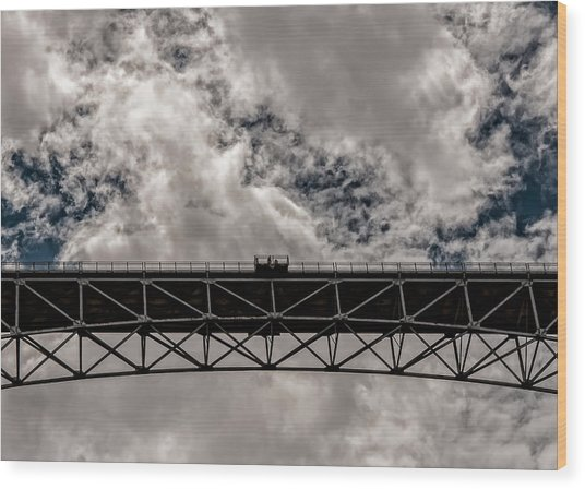 Bridge From Below Wood Print