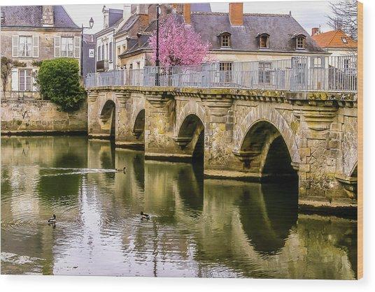 Bridge In The Loir Valley, France Wood Print
