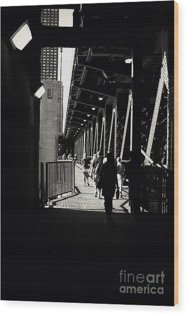 Bridge - Lower Lake Shore Drive At Navy Pier Chicago. Wood Print