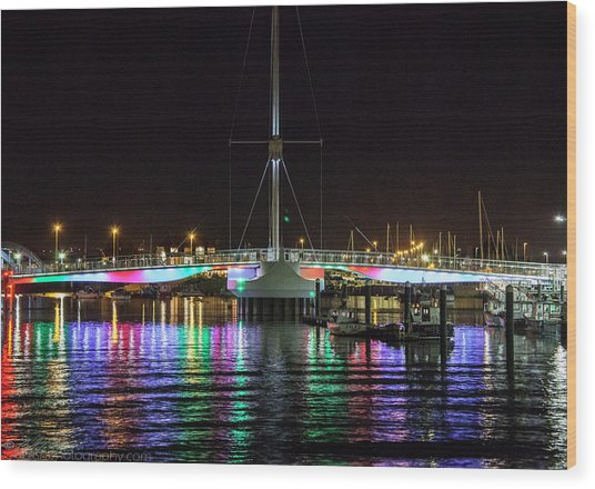 Bridge Of Lights Wood Print