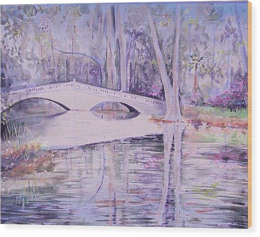 Bridge Of Magnolia Gardens Wood Print