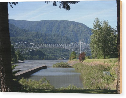 Bridge Of The Gods Br-4002 Wood Print by Mary Gaines