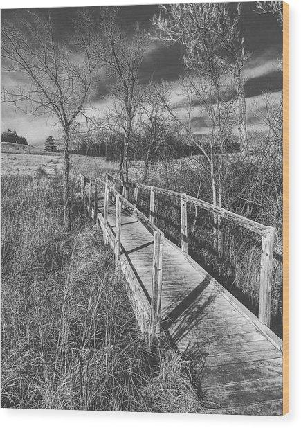 Bridge On The Prairie Wood Print
