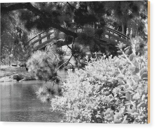 Bridge Over Calm Water Wood Print