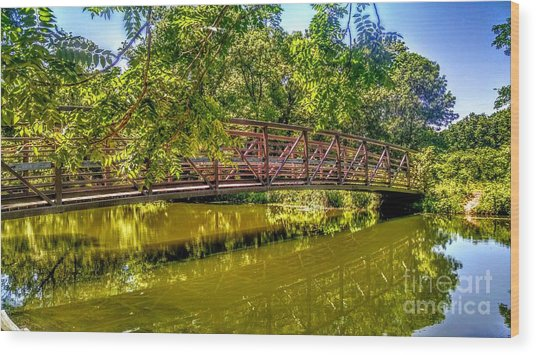 Bridge Over Delaware Canal At Colonial Park Wood Print