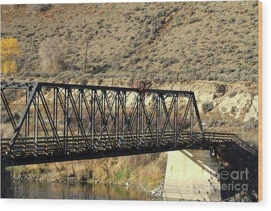 Wood Print featuring the photograph Bridge Over The Thompson by Ann E Robson