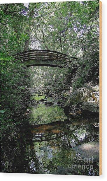 Bridge Reflections Wood Print