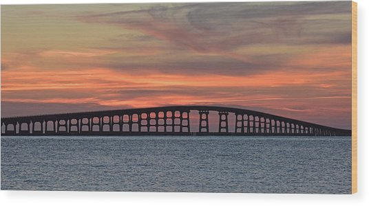 Bridge To Hatteras Wood Print