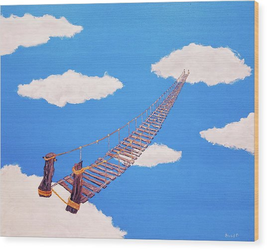 Bridge To Nowhere Wood Print