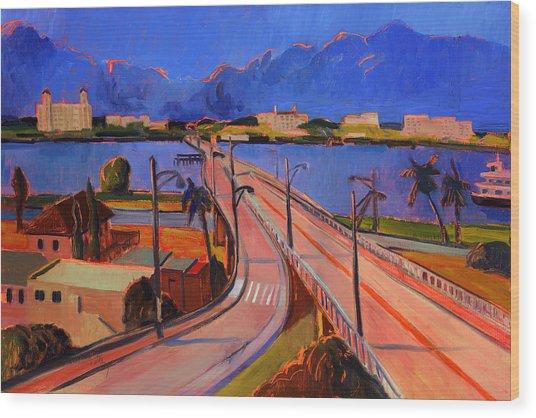 Bridge To Palm Beach Wood Print