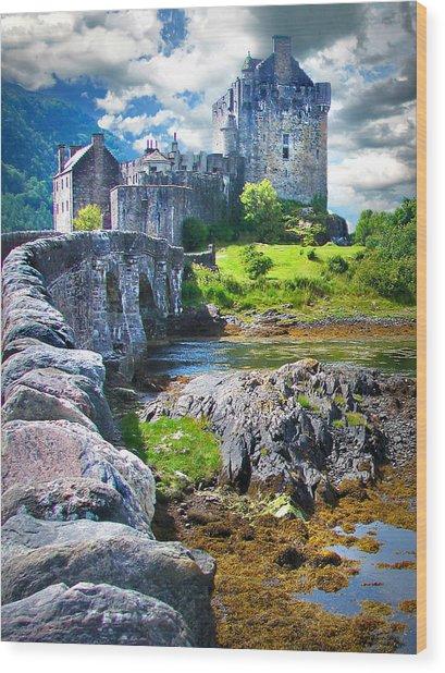 Bridge To The Castle Wood Print