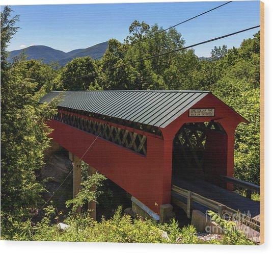 Bridge To The Mountains Wood Print