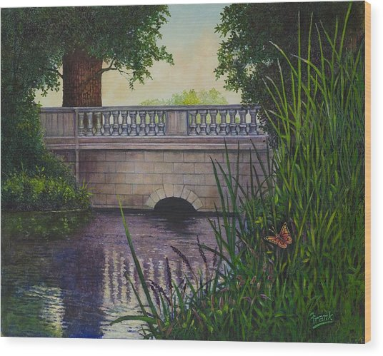 Bridges Of Forest Park II Wood Print