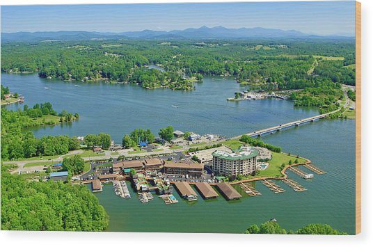 Bridgewater Plaza, Smith Mountain Lake, Virginia Wood Print