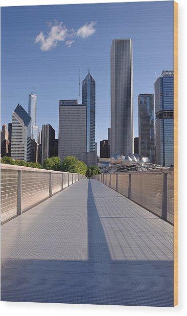 Bridgeway To Chicago Wood Print