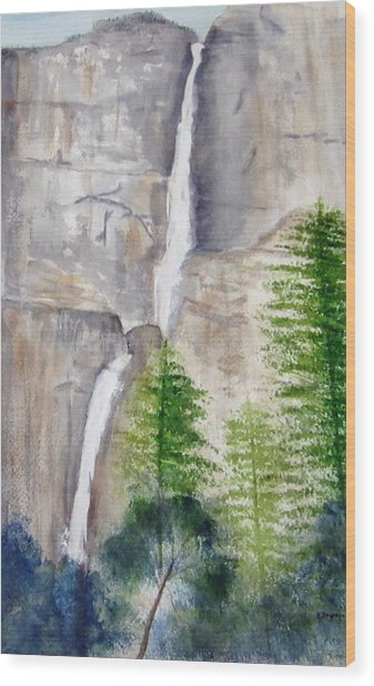 Bridal Veil Waterfall Wood Print