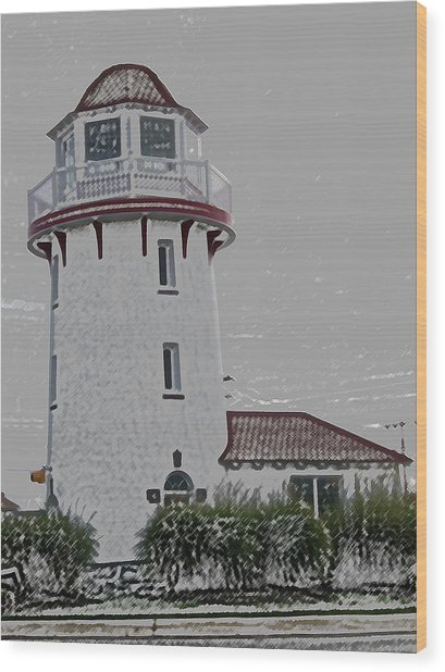 Brigantine Lighthouse Wood Print