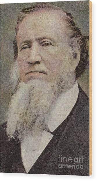 Brigham Young  Wood Print