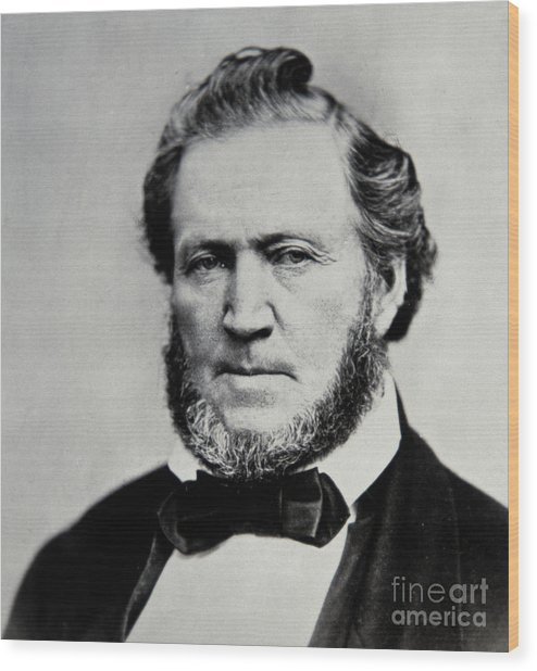 Brigham Young  Second President Of The Mormon Church Wood Print