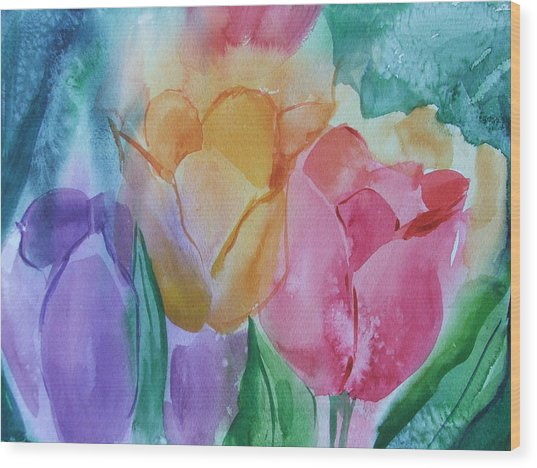 Bright And Pretty Wood Print by Dianna Willman