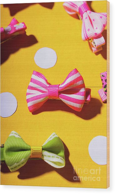 Bright Bow Tie Gallery Wood Print