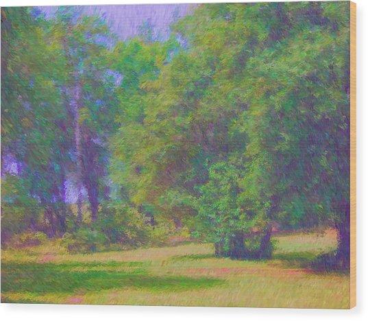 Bright Day Wood Print